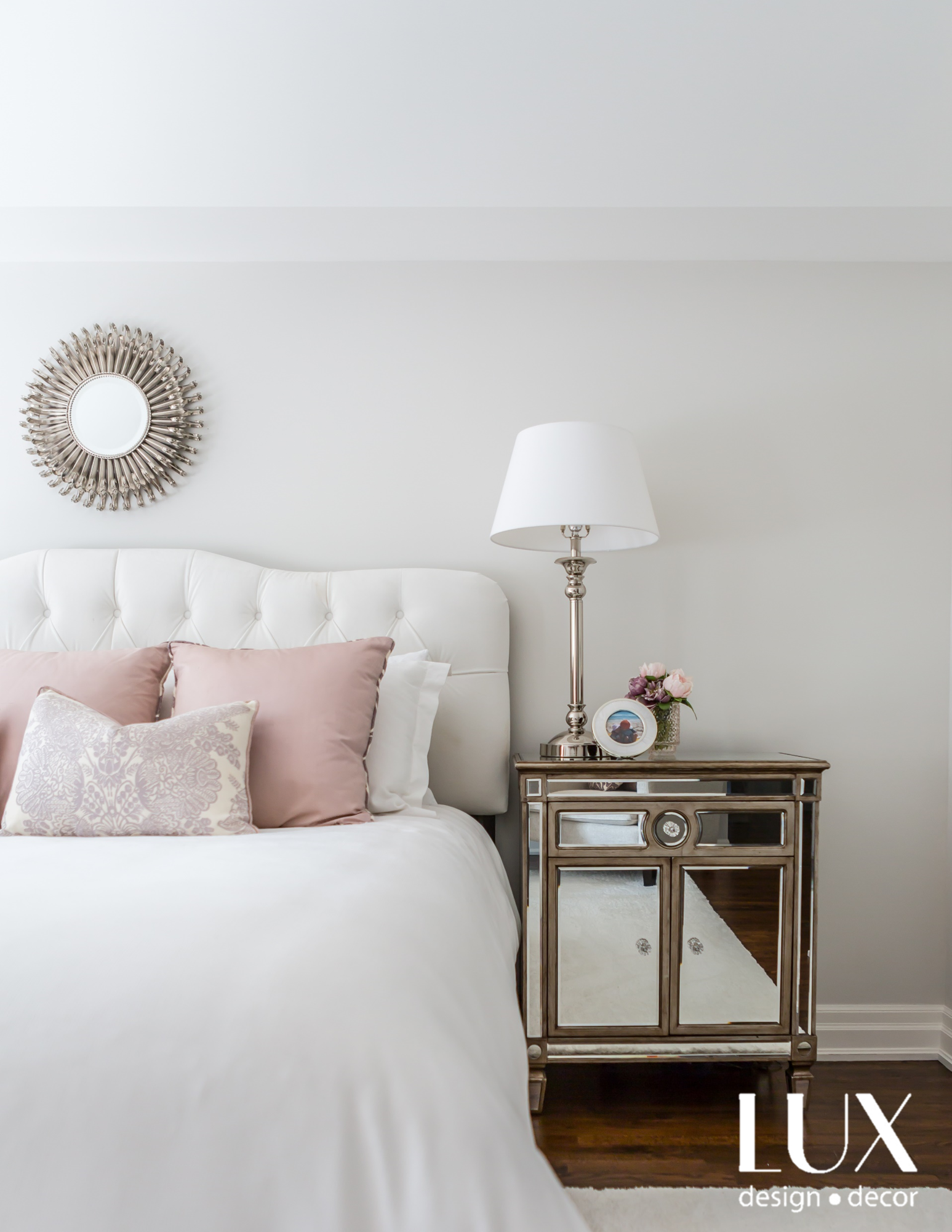 Decor in a beautiful transitional LUX style