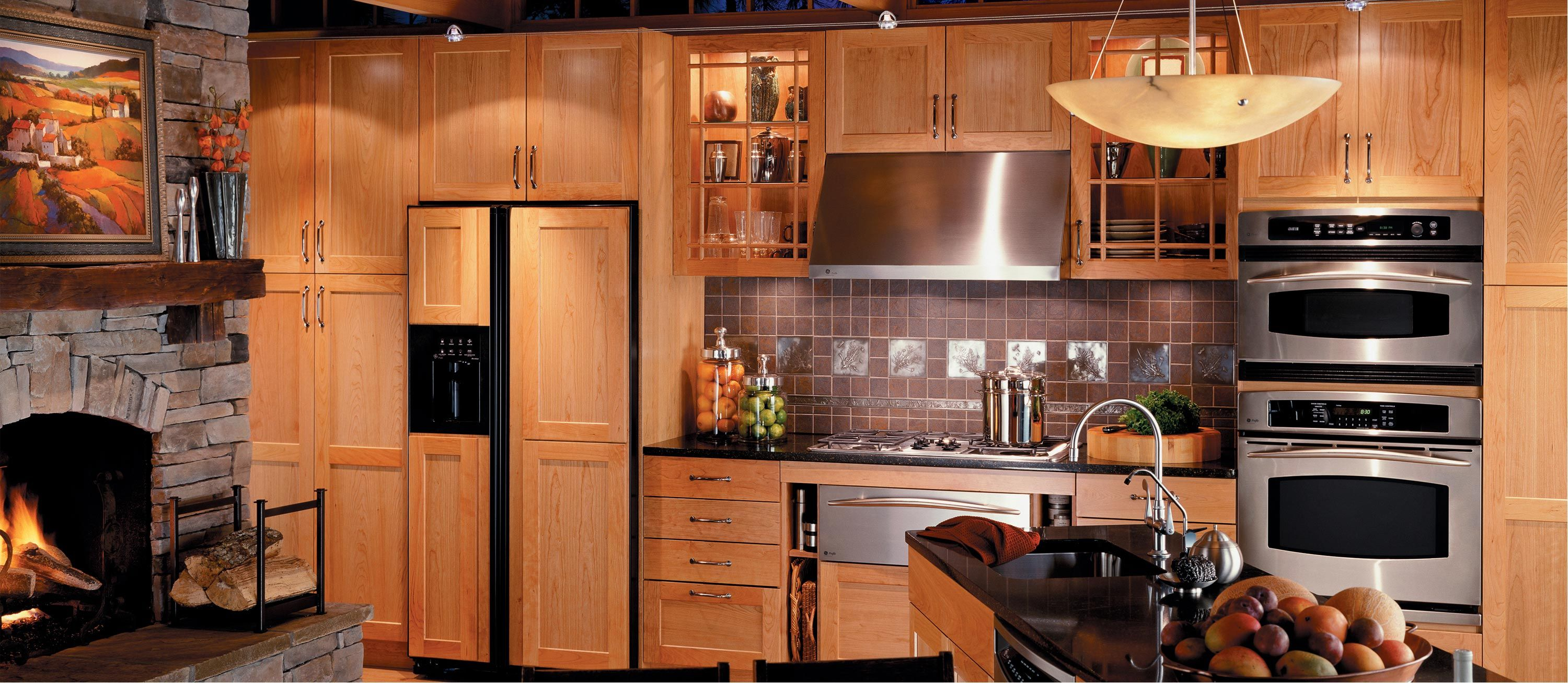 Kitchen, Traditional Kitchen Design Layout With Wooden