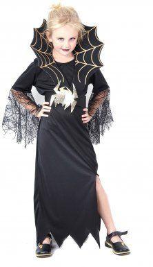 Disfraz de reina de las arañas para niña ideal para Halloween #deguisementfantomeenfant Disfraz de reina de las arañas para niña, ideal para Halloween #deguisementfantomeenfant