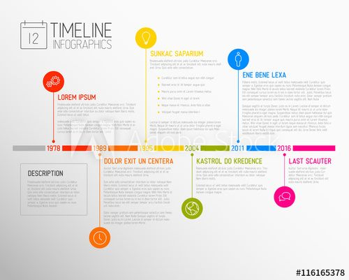 vector infographic timeline report template webdesign graphic
