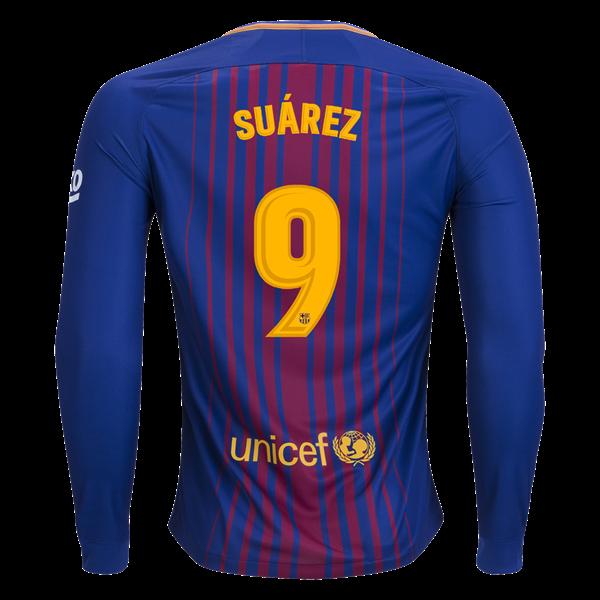 100% authentic aa3d4 a30a8 Nike Luis Suarez Barcelona Long Sleeve Home Jersey 17/18 ...