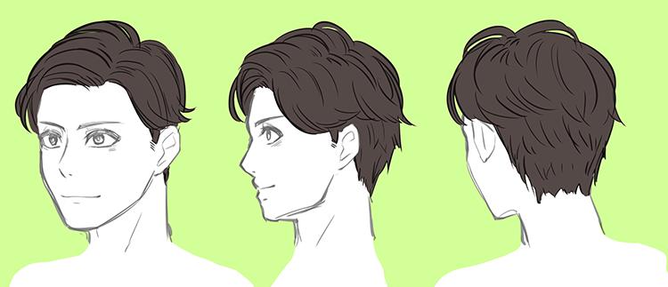 男性のリアルな髪型バリエーション 7選 いちあっぷ 髪型のスケッチ イラスト 男性