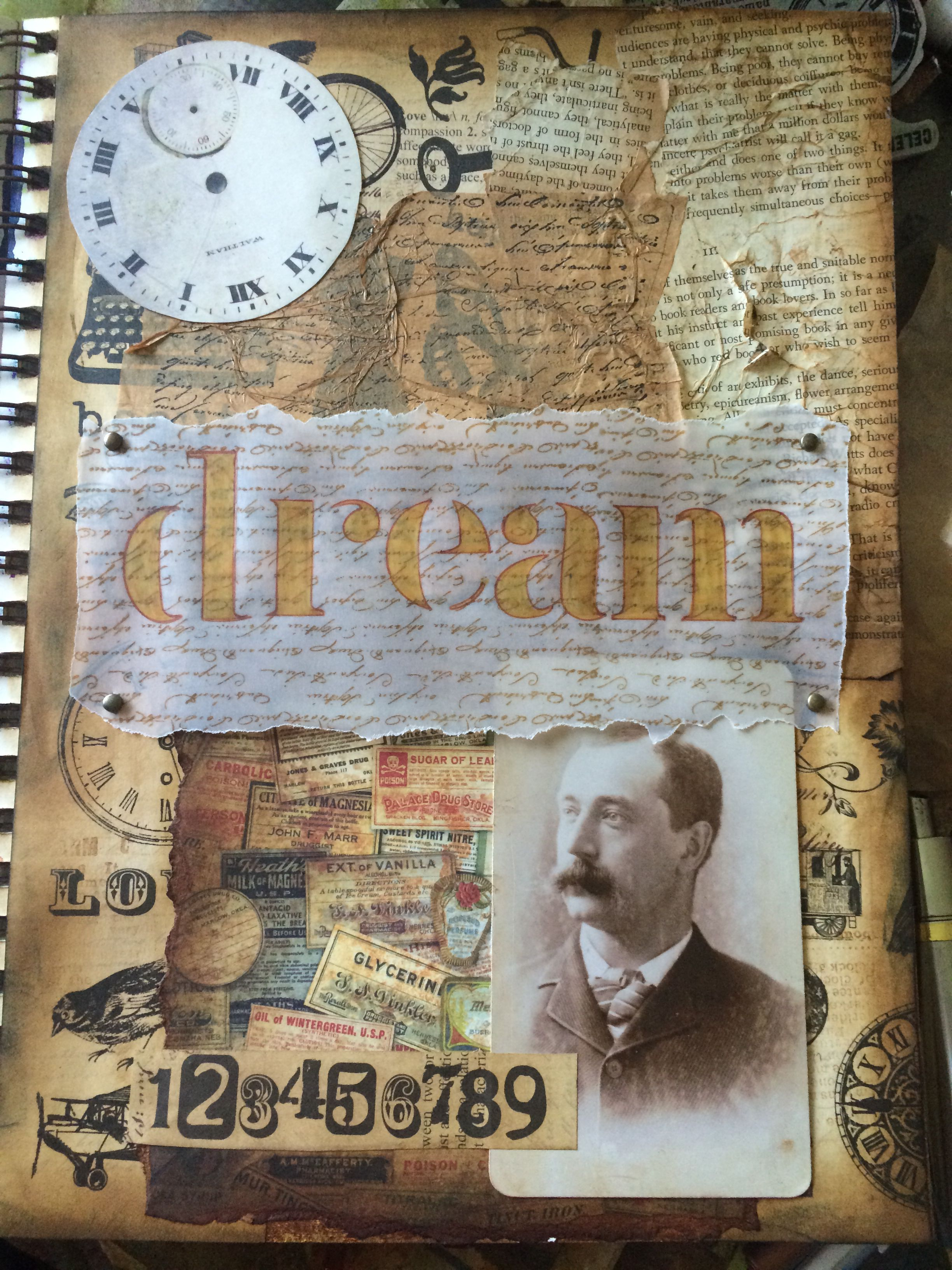 Dream Mixed Media Vintage Art Journal Page By Adam Atom 07 24 2014 Art Journal Backgrounds Art Journal Art Journal Pages
