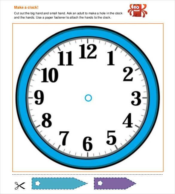 image relating to Free Printable Clock Template called 17+ Printable Clock Templates - PDF, Document No cost High quality