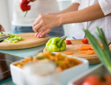 44. Don't Eat Everywhere  Save the kitchen and the dining room table for cooking and eating. Try not to use it as a place to do work or other activities, or you may be tempted to eat more.