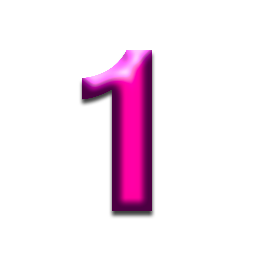 Free Download Digit 1 Png Transparent Background One Png Image It Can Be Used In Making White Board Animat Transparent Youtube Thumbnail Alphabet And Numbers