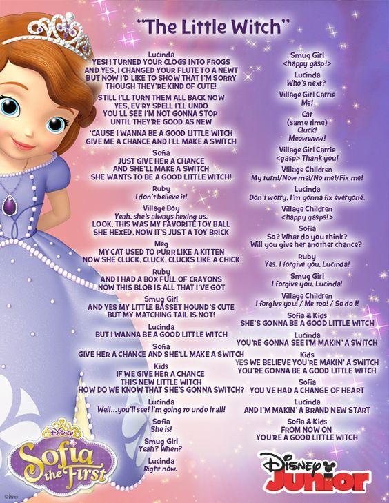 The Little Witch lyrics Disney Junior Music Pinterest Lyrics