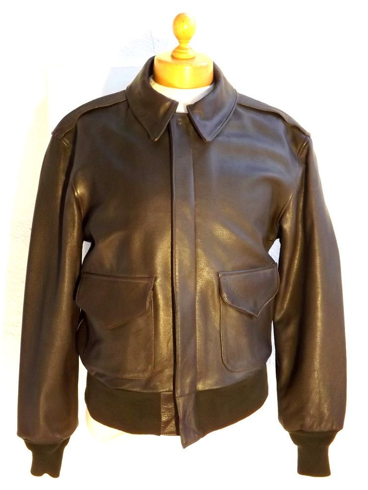 USAirforce Type A2 Cooper Leather Flight Jacket Made In USA