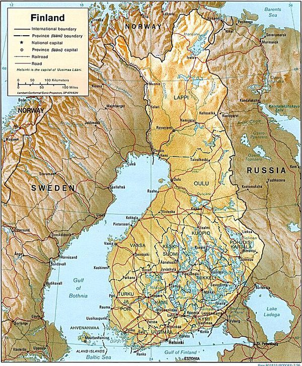Everything You Need To Know About The Scandinavian Region Finland Relief Map Finland Country
