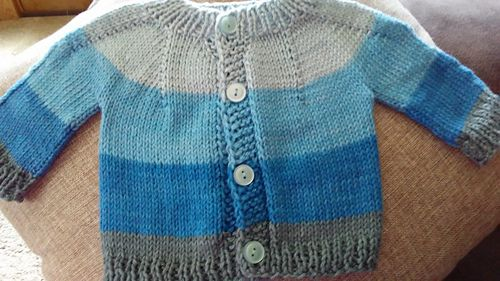 Photo of Perfect Baby Boy or Girl Top Down DK Jacket pattern by marianna mel