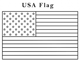 American Flag Coloring Page Kindergarten free printable coloring