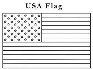 American Flag Coloring Page Kindergarten | free printable coloring ...