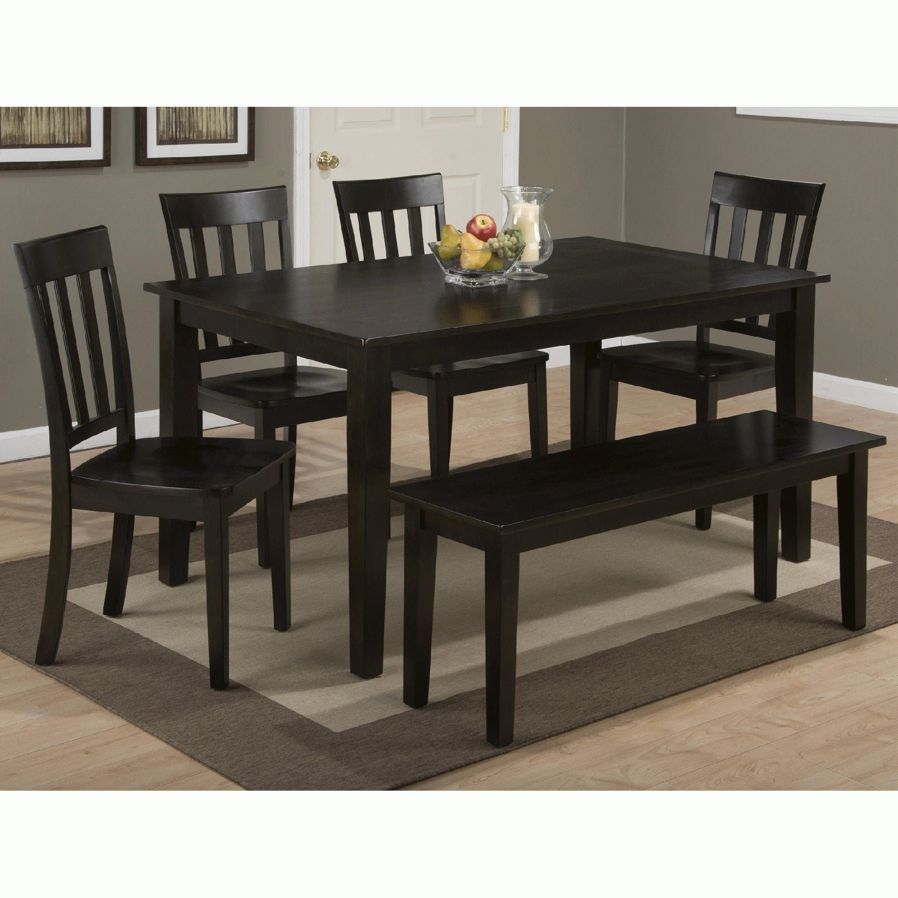 Simplicity Espresso 6 Piece Rectangular Set Rectangular Table