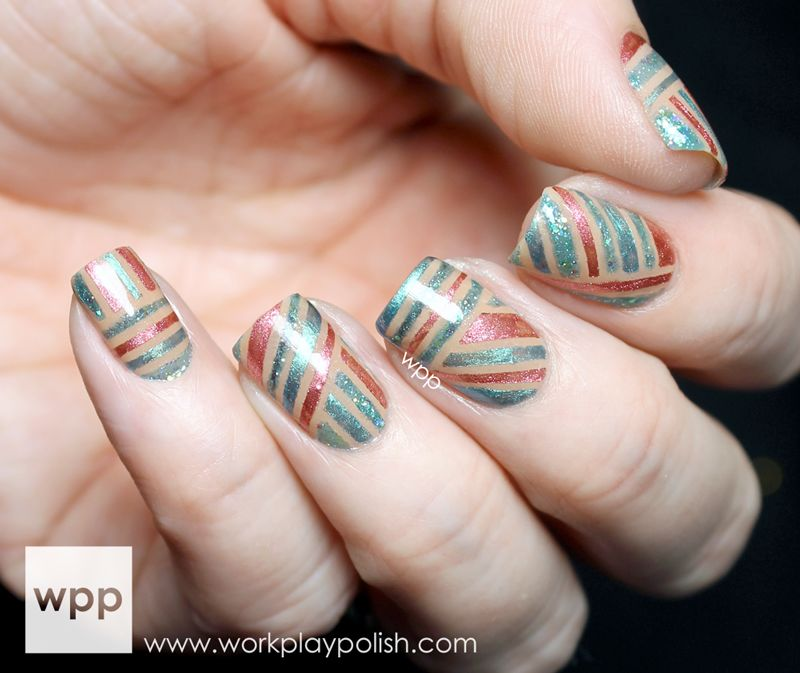 Concrete And Nail Polish Striped Nail Art: Color Secrets Professional Nail Lacquer Review And Striped