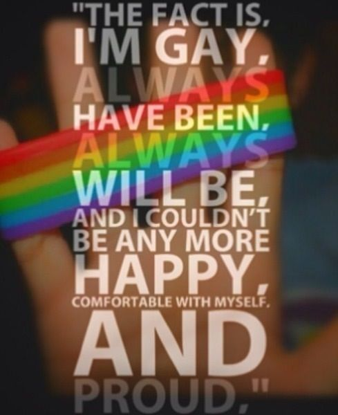 I'm proud to be gay!