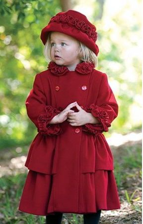 1c8de26a7f8 red velvet coat and hat set by Sarah Louise