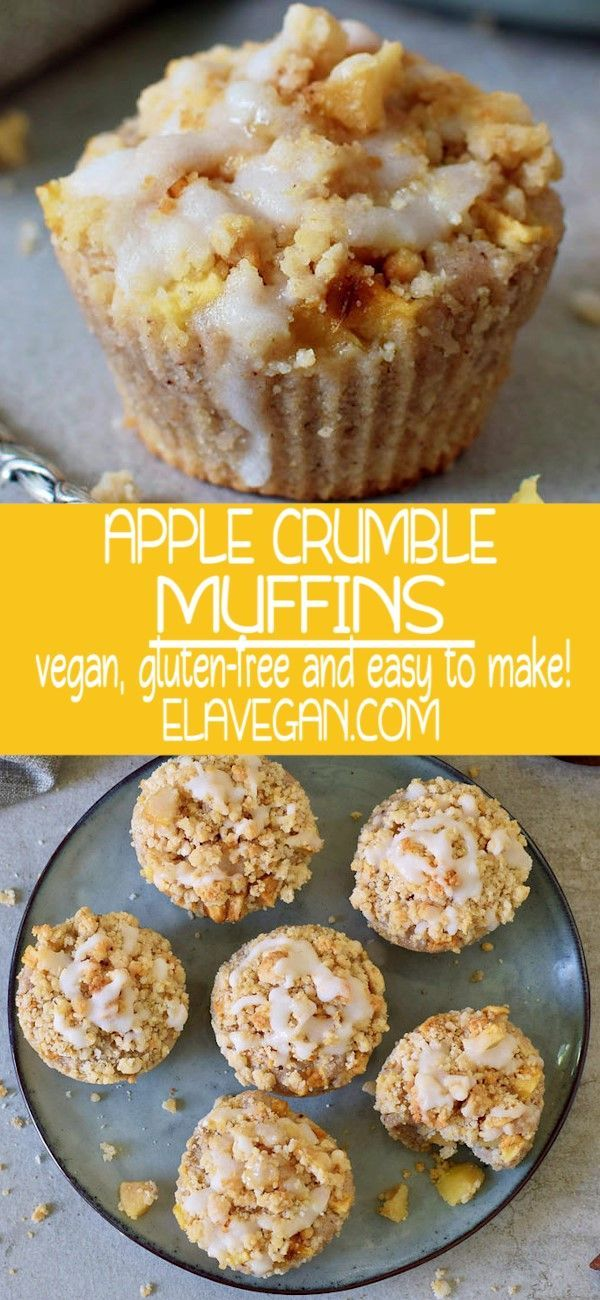 APPLE CRUMBLE MUFFINS #glutenfreebreakfasts