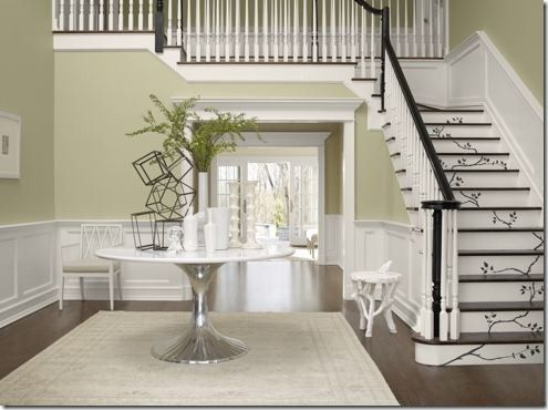 Another Greenish Gray Color Mirage Benjamin Moore Is A Favourite Neutral Of Green Living RoomsLiving Room