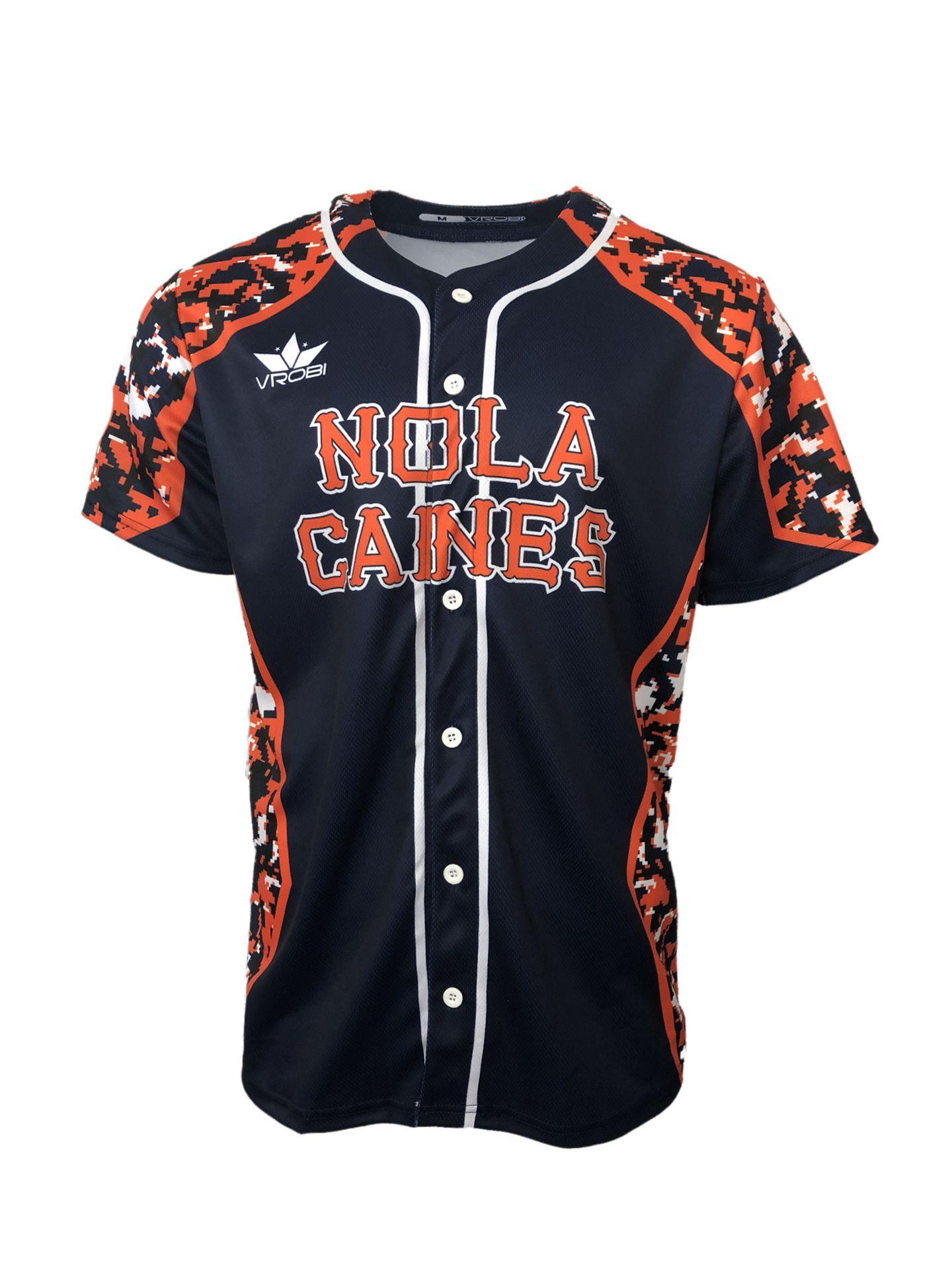 e2fdb155833 Full Button Sublimated Baseball Jersey