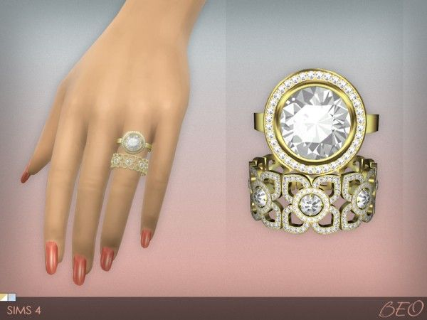 Beo Creations Diamond Rings Set Sims 4 Downloads Sims 4 Sims