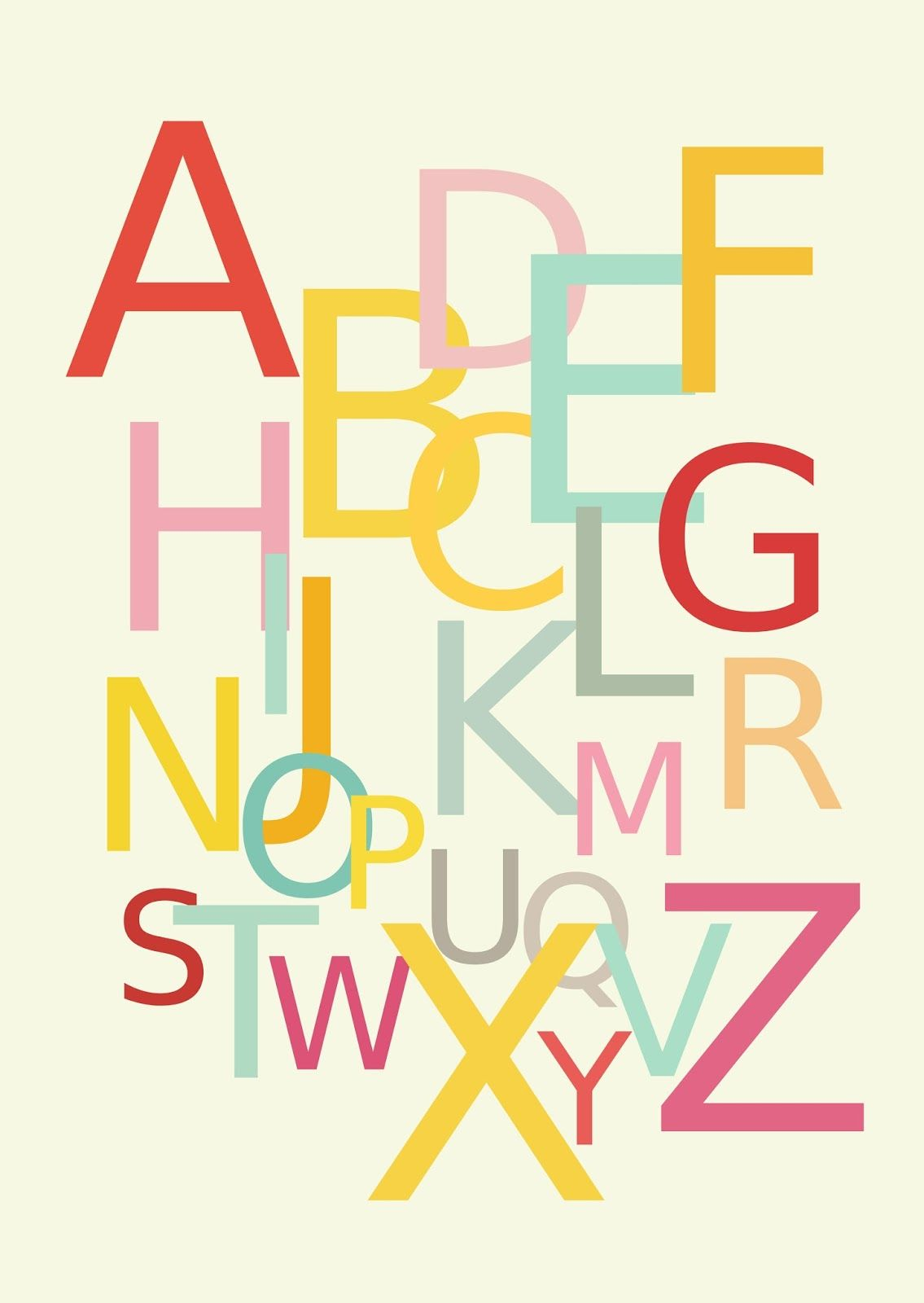 FREE printable alphabet wall art | #ABCposter | Printables & Fonts ...
