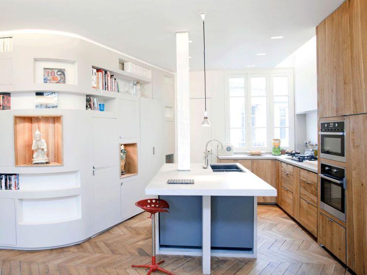 Aménager sa cuisine  11 idées pour optimiser les angles - amenagement placard d angle cuisine