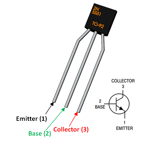 2n5551 npn amplifier transistor pinout  smartphone repair