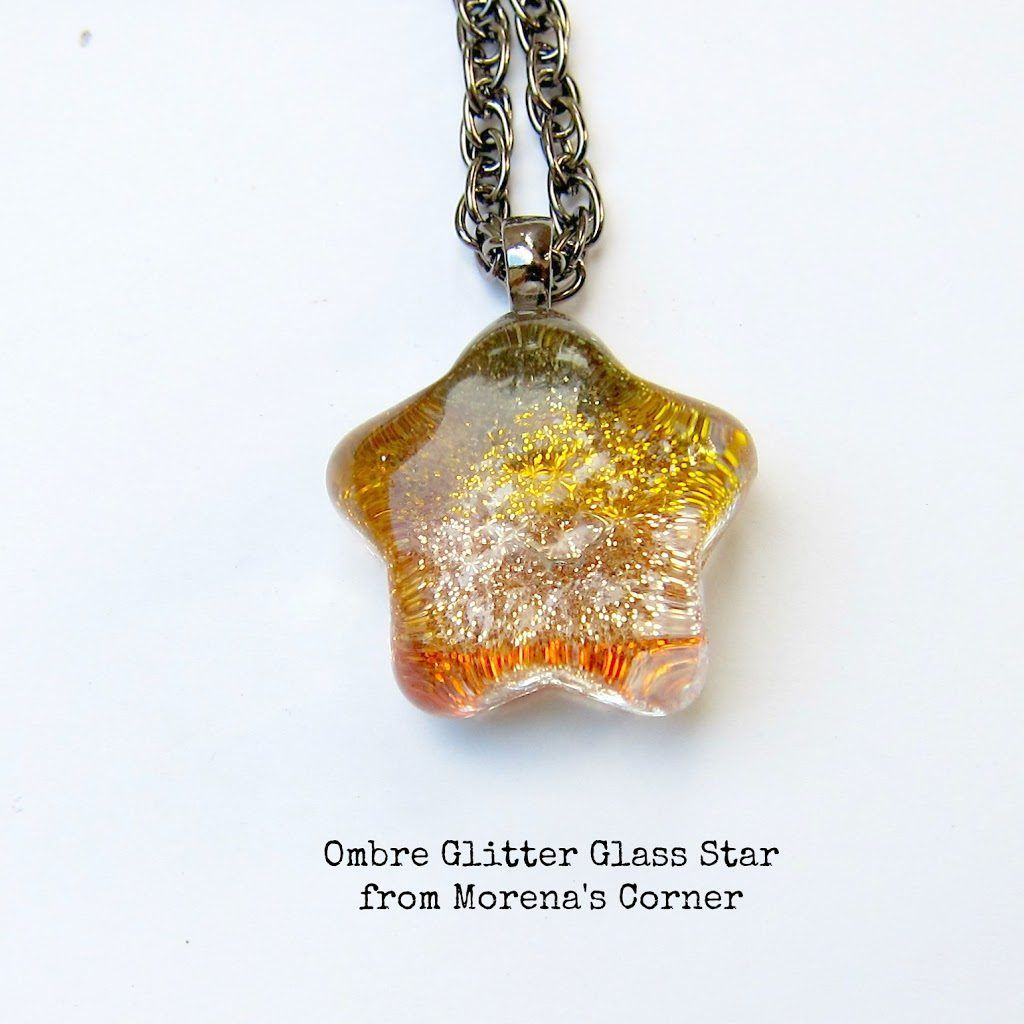 Ombre glitter glass star pendant star pendant ombre and pendants ombre glitter glass star pendant morenas corner mozeypictures Choice Image