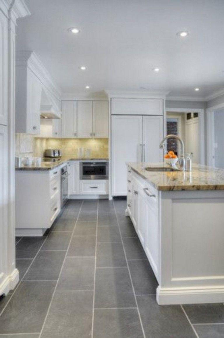 39 Beautiful Kitchen Floor Tiles Design Ideas Grey Kitchen