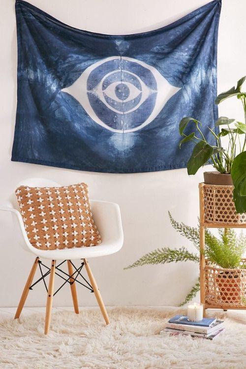 Gypsy van grrrl graham keegan shibori eye tapestry by urban outfitters