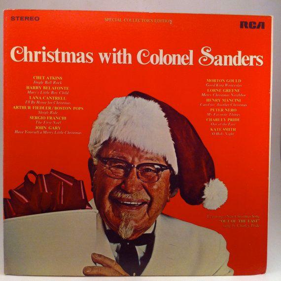 HALLOWEEN SALE Christmas with Colonel Sanders Vinyl Record LP 1969 ...