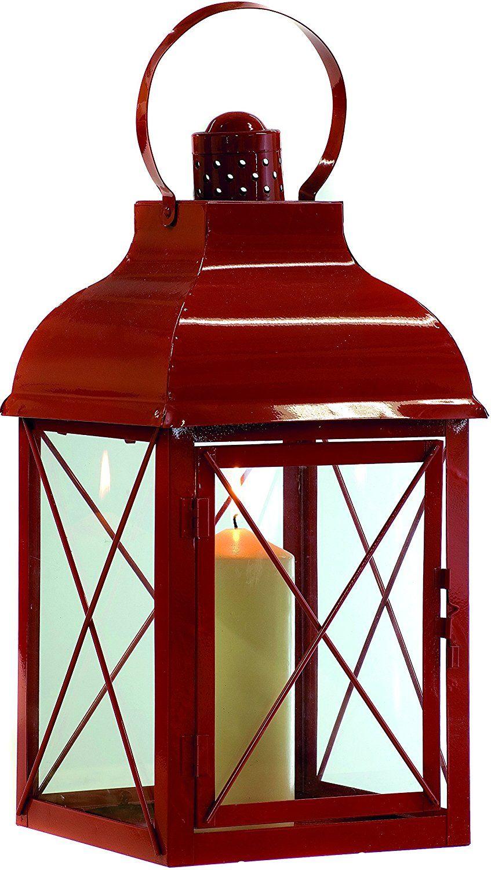 Festive productions 698899 48 cm metal lantern red