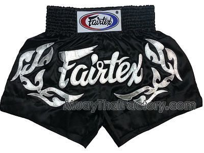 2886fd1551 Fairtex Fairtex Muay Thai shorts - Tattoo - Black/SILVER for sale. [FT -BS0647]