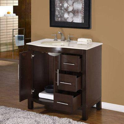Silkroad Exclusive Kimberly 36 Single Bathroom Vanity Set