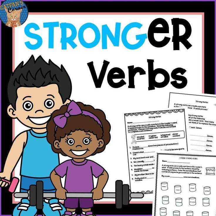stronger verbs elementary education teaching grammar reading comprehension activities. Black Bedroom Furniture Sets. Home Design Ideas