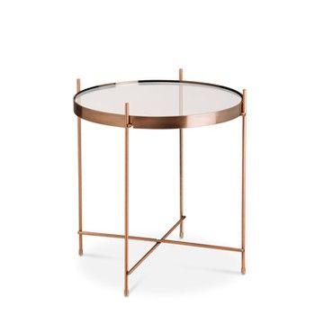 Beistelltisch Kupferfarben Mit Kupfergestell Chloe Kupferfarben Kupfer 15780901 0 Wohnzimmertische Beistelltisch Tisch