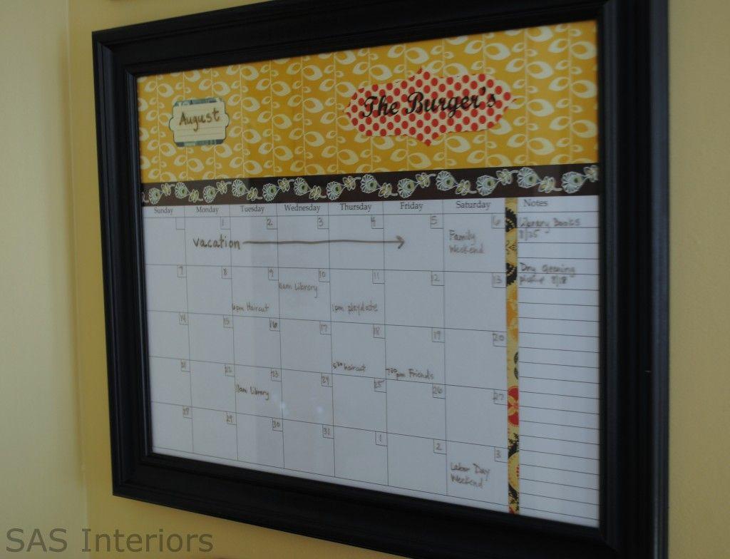DIY Monthly Wall Planner | kitchen | Pinterest | Tablero