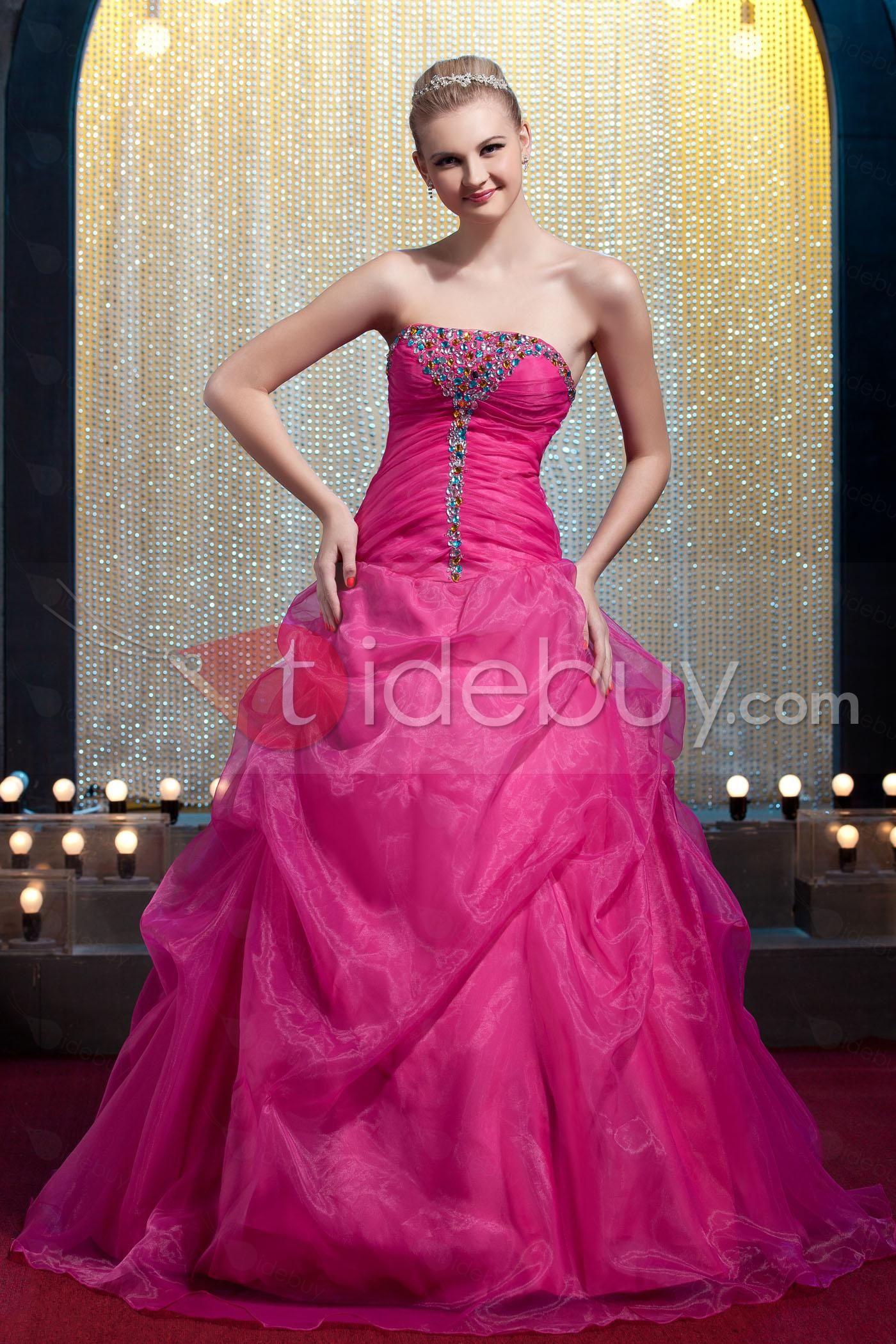 ストラップレスボールガウン床までの長さ成人式ドレス | 衣装とカツラ ...