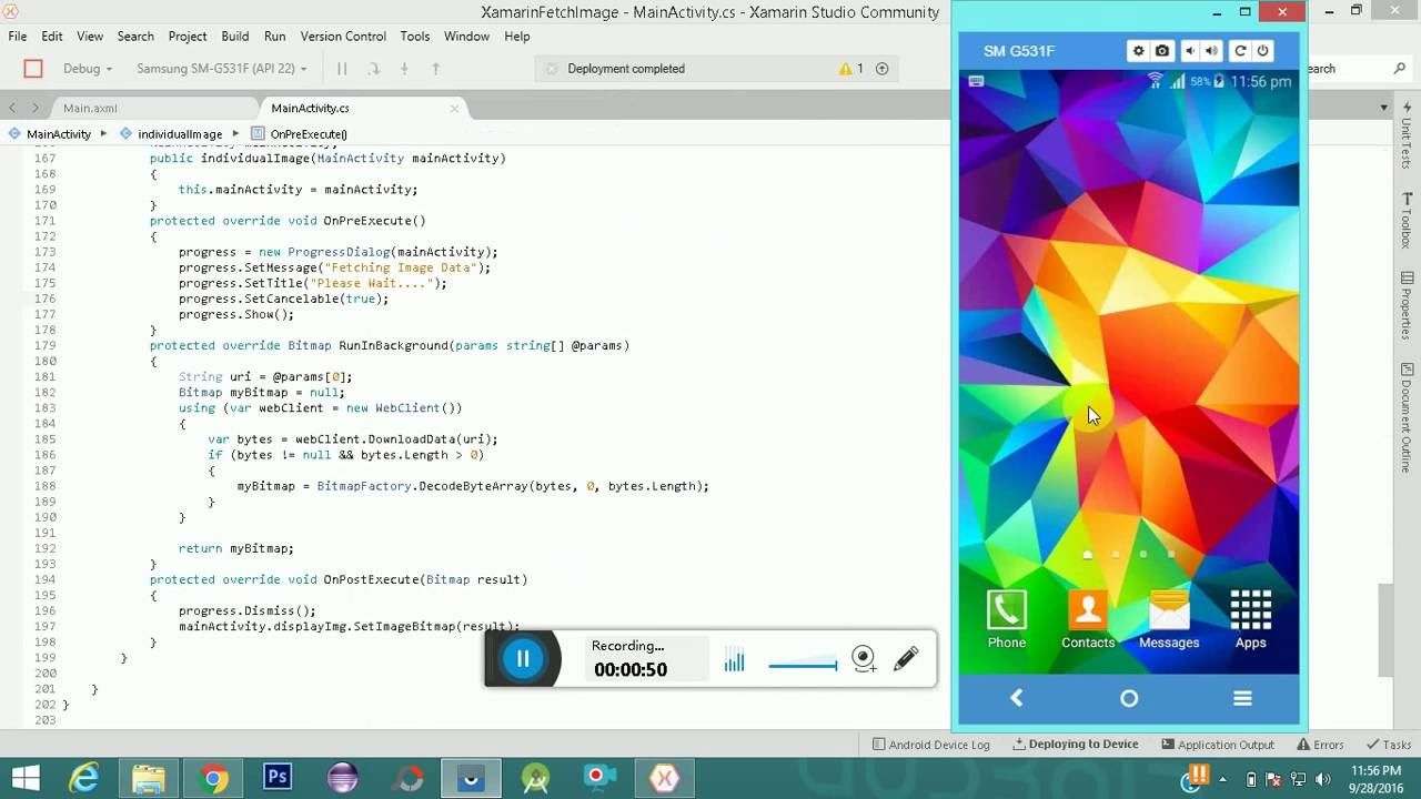 Xamarin Fetch Images from MYSQL Android Android