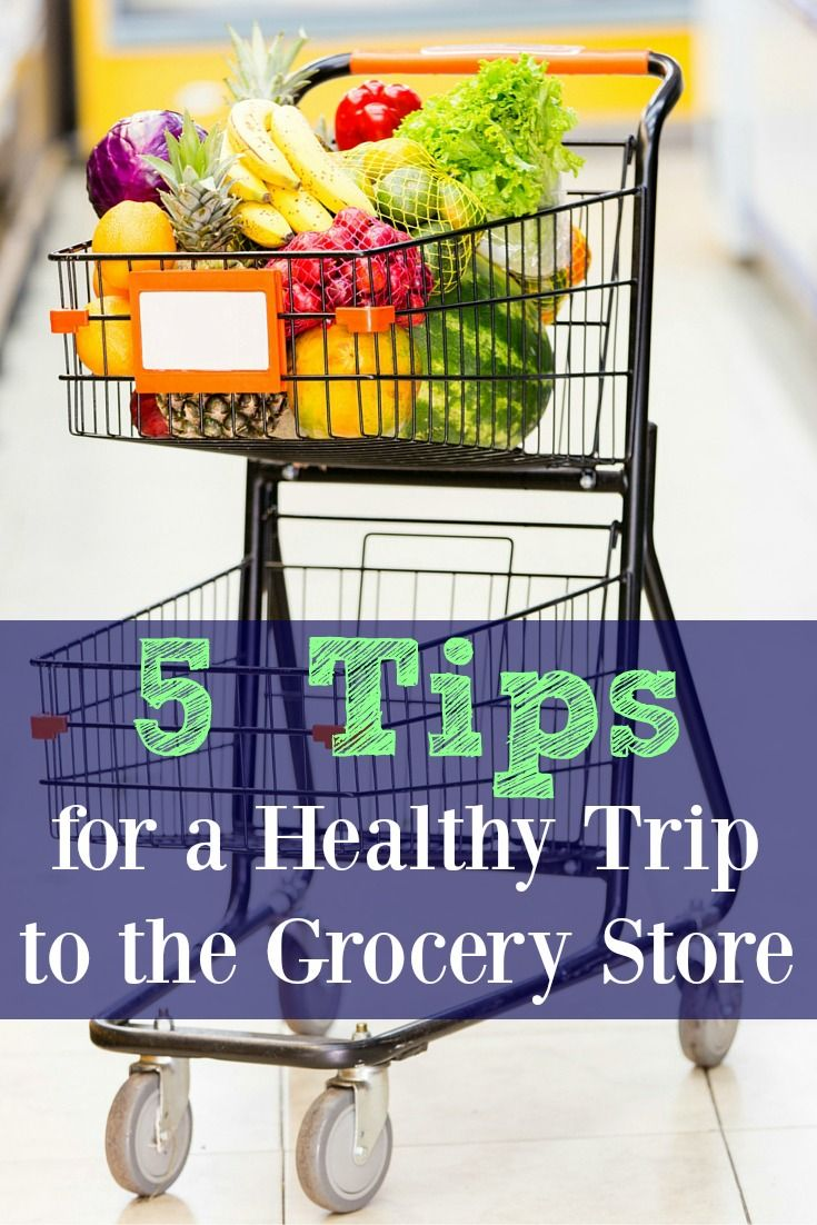 5 Tips for a Healthy Trip to the Grocery Store. Weight loss success advice. Great tips for purchasing healthy foods and avoiding the junk at the grocery store. It make even help you save money too!