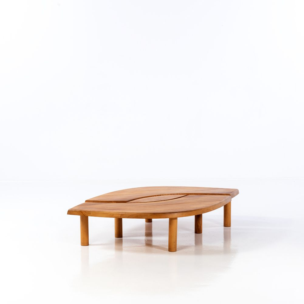 Pierre Chapo 1927 1987 Modele T22 Dit œil Table Basse Table Basse Carree Table Basse Table Basse Design