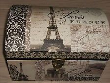 Great Eiffel Tower Storage Trunks | Large Paris Eiffel Tower Trunk Style Storage  Box By Tri Coastal