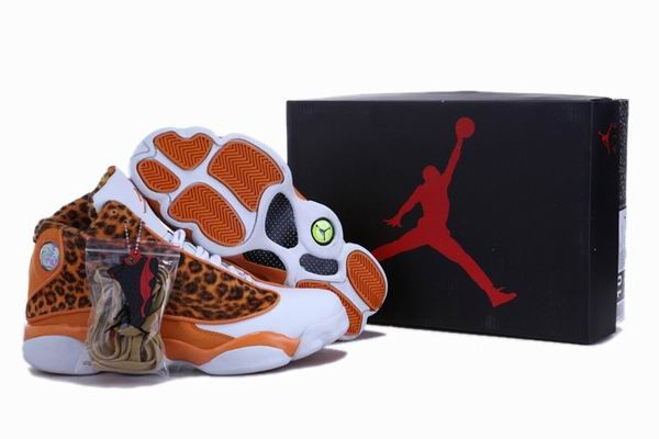 womens air jordan retro 13 orange white