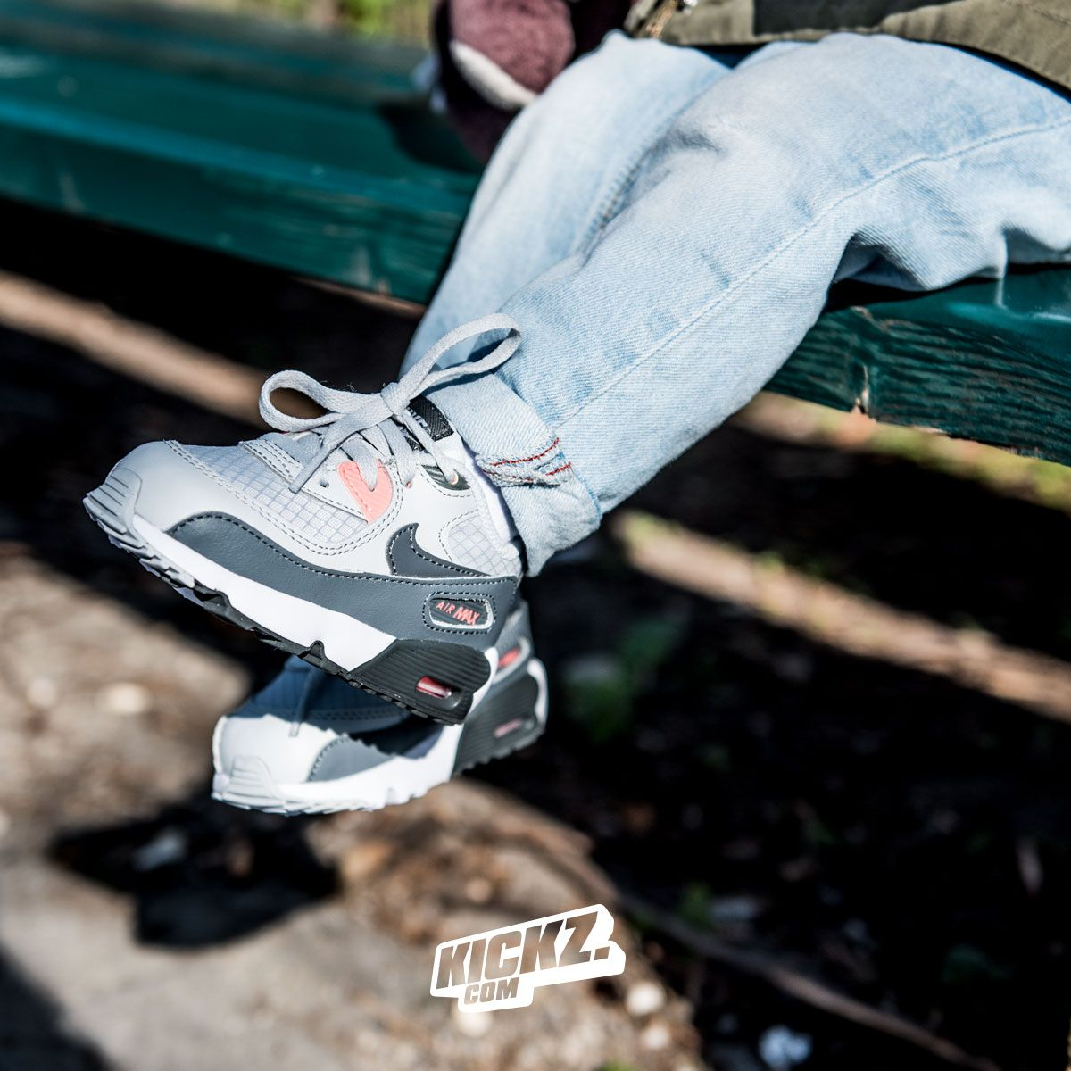 Nike Air Max 90 Mesh (pure platinum cool grey) for toddlers and kids.    kickz.com bd79189f7