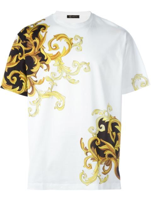 910bc618 VERSACE Baroque Accent T-Shirt. #versace #cloth #t-shirt | Versace ...