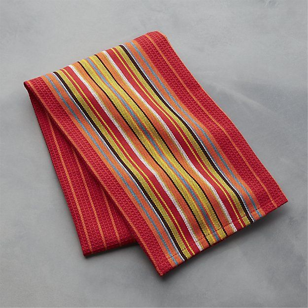 Salsa Dos Red Dish Towel Crate And Barrel Van Life Pinterest