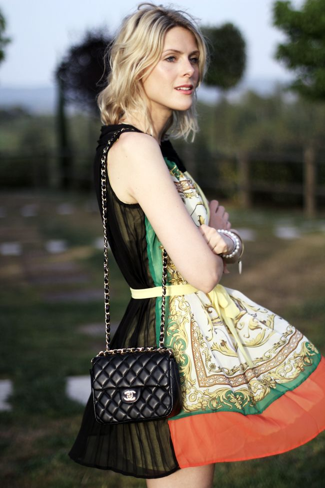 Printed Dress and Chanel...