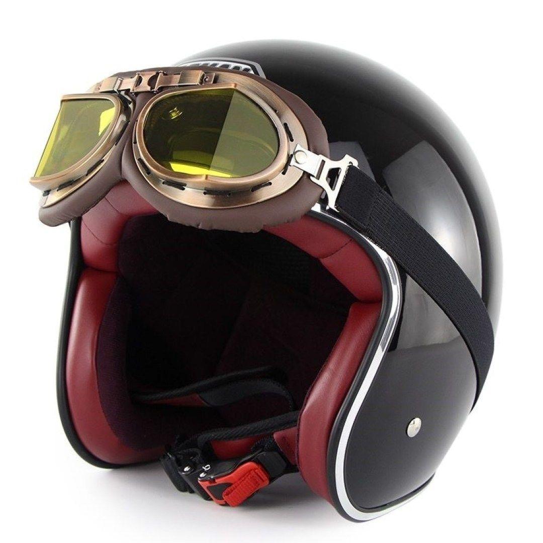 Motorcycle Helmets with Old-School Looks, New-School