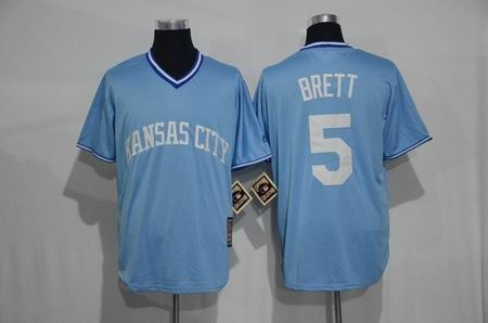low priced 1f511 2e617 New Kansas City Royals New Material Jersey Mens 5 George ...