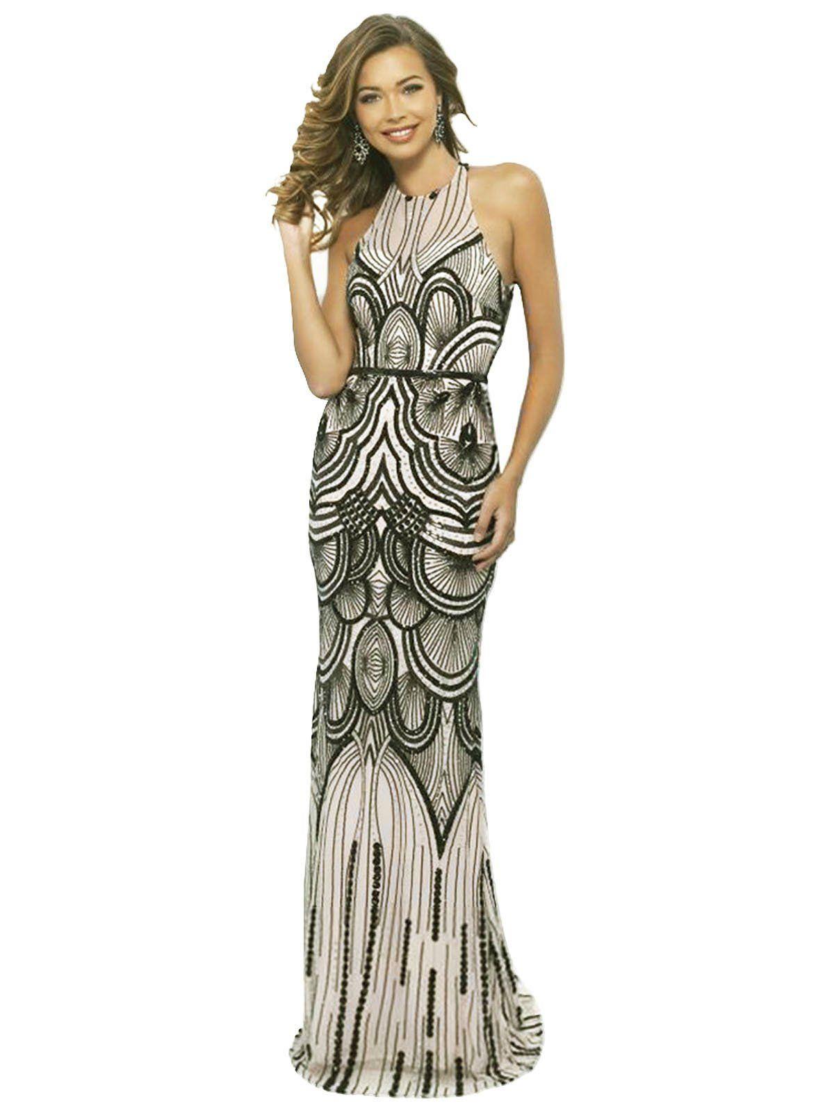 1920s Sequin Backless Formal Dress Backless Evening Dress Backless Dress Formal Evening Dresses [ 1600 x 1200 Pixel ]